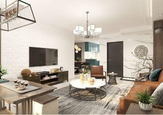 110平米三室一厅混搭风格客厅装修图片大全