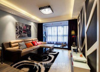 富裕型80平米现代简约风格客厅图