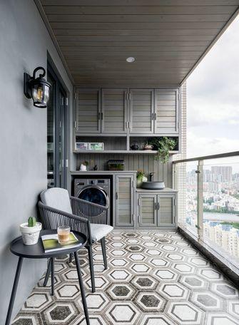 120平米复式美式风格阳台装修效果图