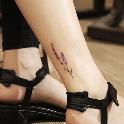 脚踝案纹身图
