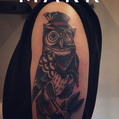 猫头鹰先生纹身款式图