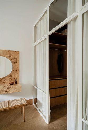 110平米三室一厅日式风格衣帽间设计图