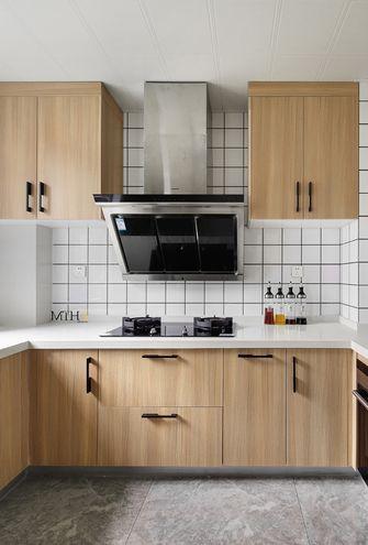 80平米三室两厅日式风格厨房图