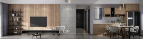 140平米三室两厅现代简约风格客厅设计图