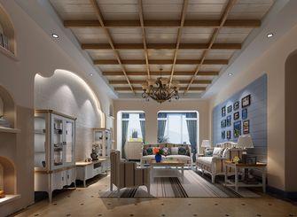 130平米三室两厅田园风格客厅装修图片大全