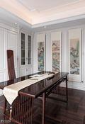 140平米别墅法式风格书房设计图