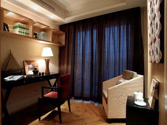 110平米三室一厅东南亚风格书房图片