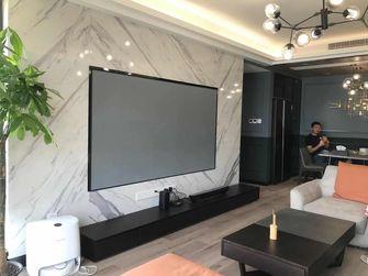 120平米三室两厅混搭风格客厅图片大全