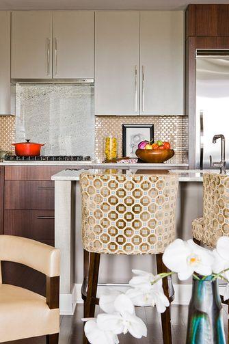 60平米一居室美式风格厨房欣赏图