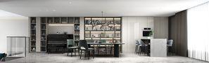140平米别墅现代简约风格餐厅图片