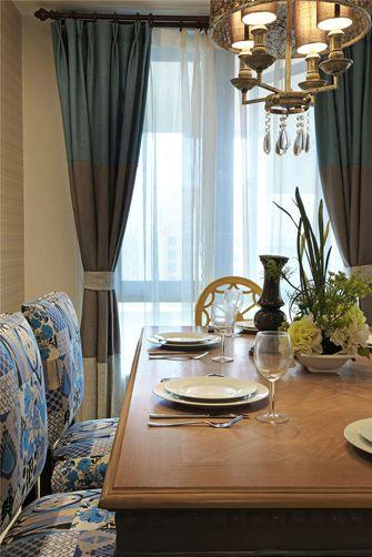 140平米三室三厅美式风格餐厅图片大全