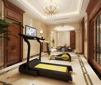 140平米别墅英伦风格健身室装修效果图