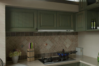 110平米美式风格厨房装修案例