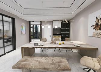 100平米三室一厅混搭风格餐厅图