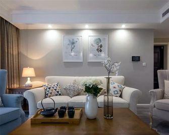 120平米三室一厅美式风格客厅装修效果图