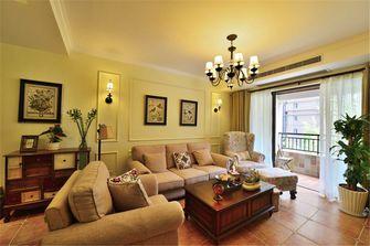 富裕型90平米三室三厅田园风格客厅效果图
