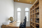 140平米三室三厅混搭风格书房图片