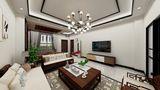 富裕型100平米公寓中式风格客厅图片大全
