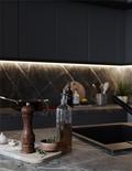 140平米复式现代简约风格厨房欣赏图