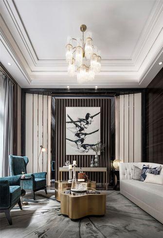 140平米别墅英伦风格客厅效果图