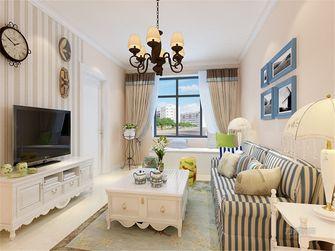 60平米一室一厅田园风格客厅图片