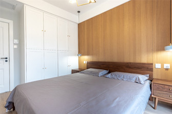 140平米三北欧风格卧室装修案例