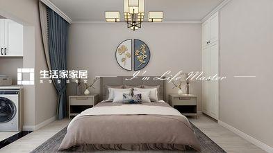 90平米三中式风格卧室设计图