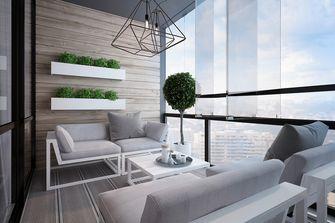 120平米三室两厅英伦风格阳台装修图片大全