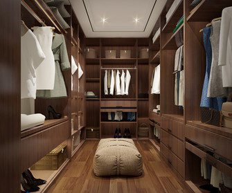 140平米别墅现代简约风格衣帽间鞋柜设计图