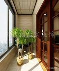 80平米东南亚风格阳台图