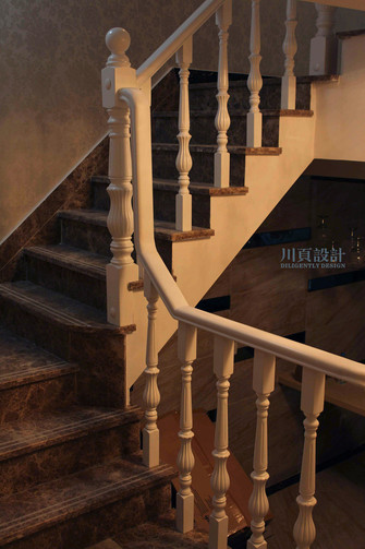 20万以上140平米别墅欧式风格楼梯图片