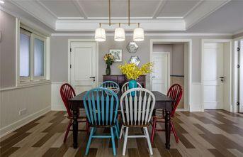 140平米三室一厅美式风格餐厅欣赏图