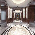 140平米别墅英伦风格玄关装修案例