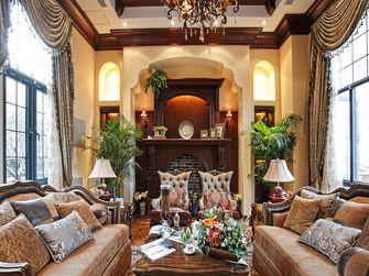 140平米三室三厅田园风格客厅图片大全