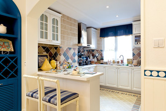 140平米复式地中海风格厨房设计图