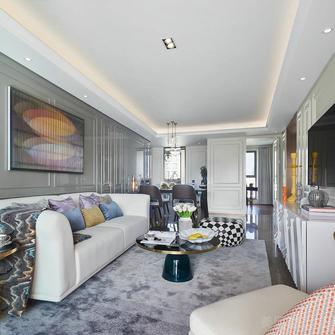 90平米三混搭风格客厅装修案例