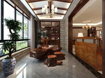 130平米三室两厅中式风格阳台图片