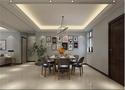 140平米三室五厅现代简约风格餐厅装修案例
