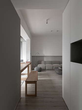 90平米一居室现代简约风格走廊设计图