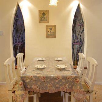 110平米三室一厅田园风格餐厅设计图