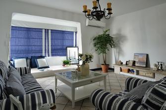 70平米复式地中海风格客厅图