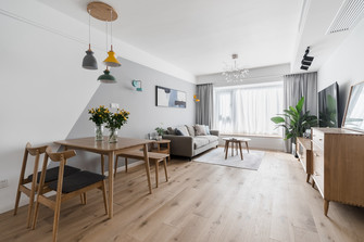 经济型100平米北欧风格客厅图