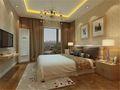 130平米三室两厅欧式风格卧室背景墙设计图