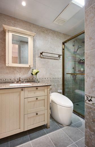 140平米复式美式风格卫生间图片