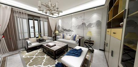 140平米三室两厅中式风格客厅图片大全