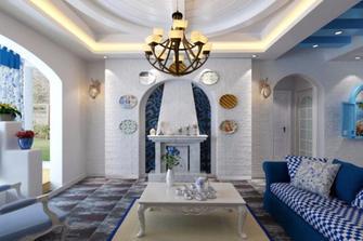 140平米四室一厅地中海风格客厅欣赏图