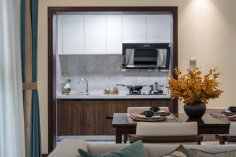 110平米四室一厅中式风格厨房设计图