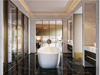 140平米一居室美式风格卫生间装修图片大全