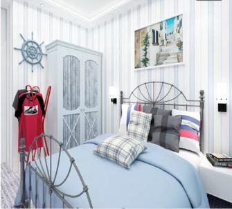 60平米一居室地中海风格卧室欣赏图