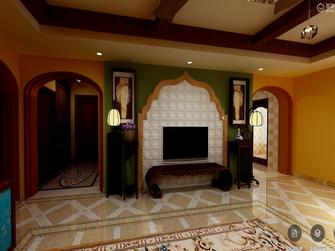 140平米三室两厅东南亚风格影音室图